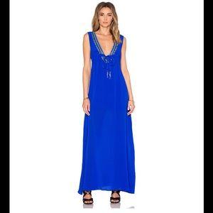 NWOT Karina Grimaldi Cathy Beaded Maxi Dress